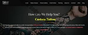 home page of tattoo mania & body piercing training institute