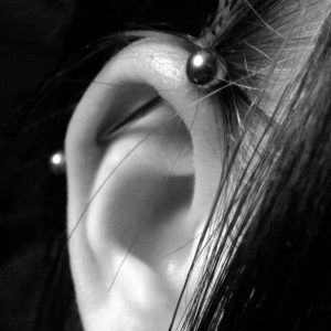 industrial piercing done at tattoo mania & body piercing training institute at thane